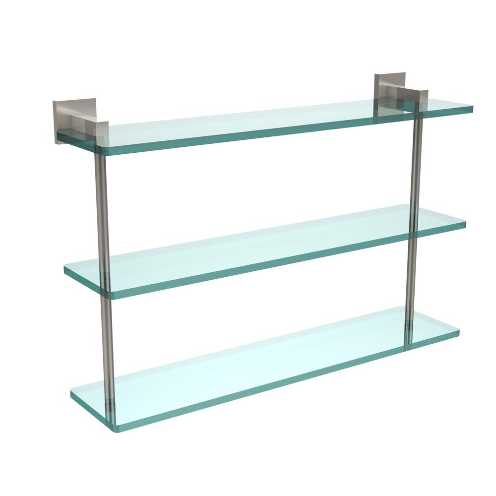 Allied Brass Montero 22 in. L x 15 in. H x 6-1/4 in. W 3-Tier Clear ...