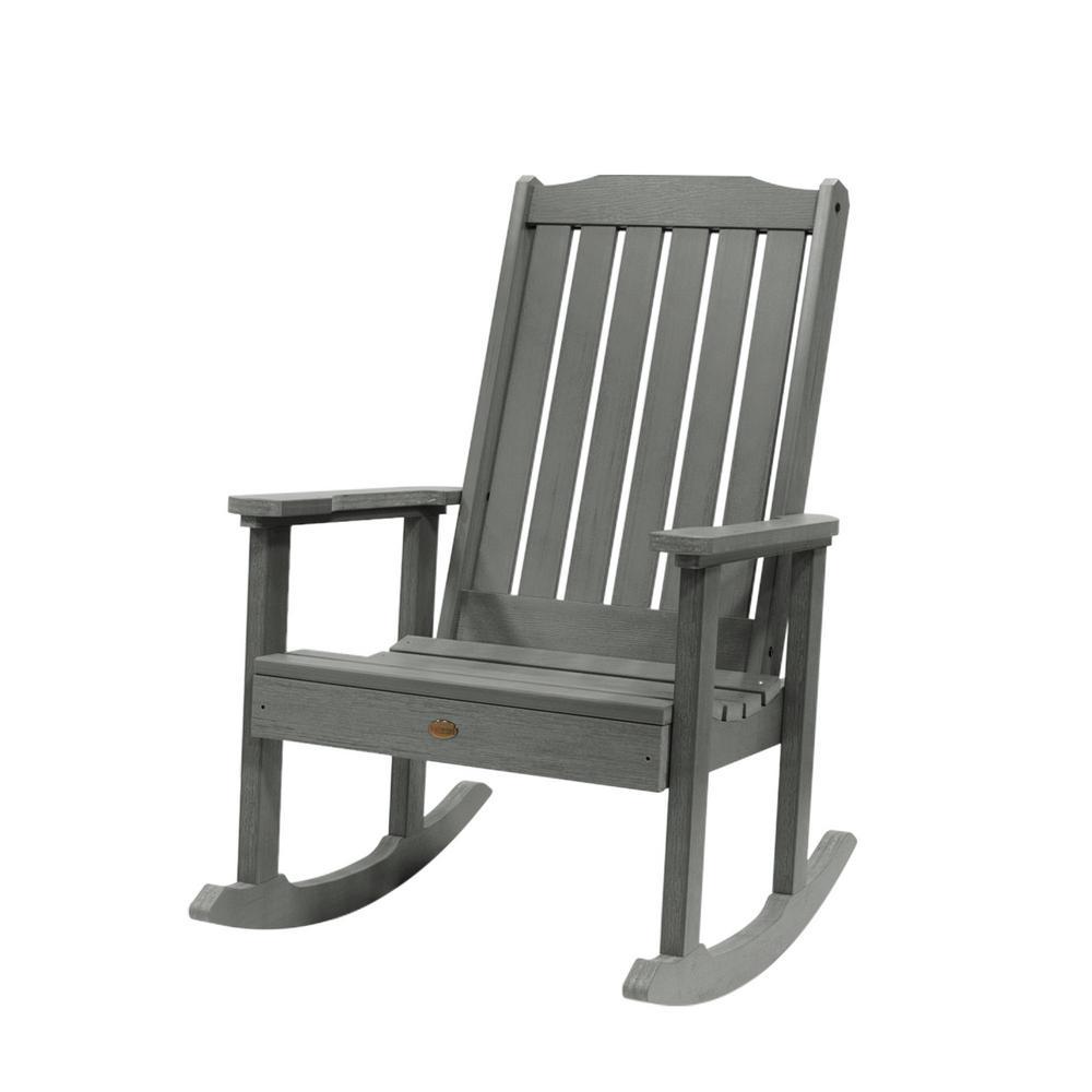 Highwood Lehigh Coastal Teak Recycled Plastic Outdoor Rocking Chair