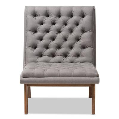 Annetha Grey Fabric Upholstered Lounge Chair