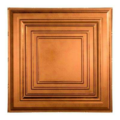 Traditional 3 - 2 ft. x 2 ft. Lay-in Ceiling Tile in Antique Bronze