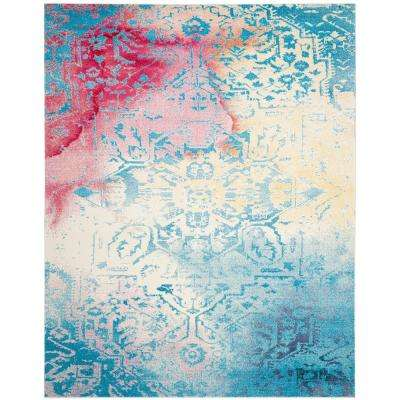 Watercolor Light Blue/Light Yellow 8 ft. x 10 ft. Area Rug