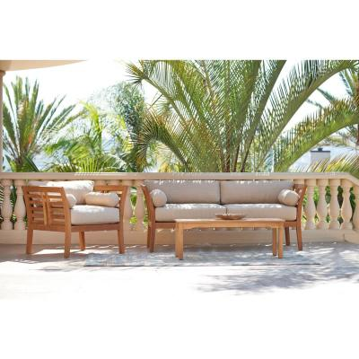 Paris 46.75 in. Rectangular Teak Wood Length Outdoor Coffee Table