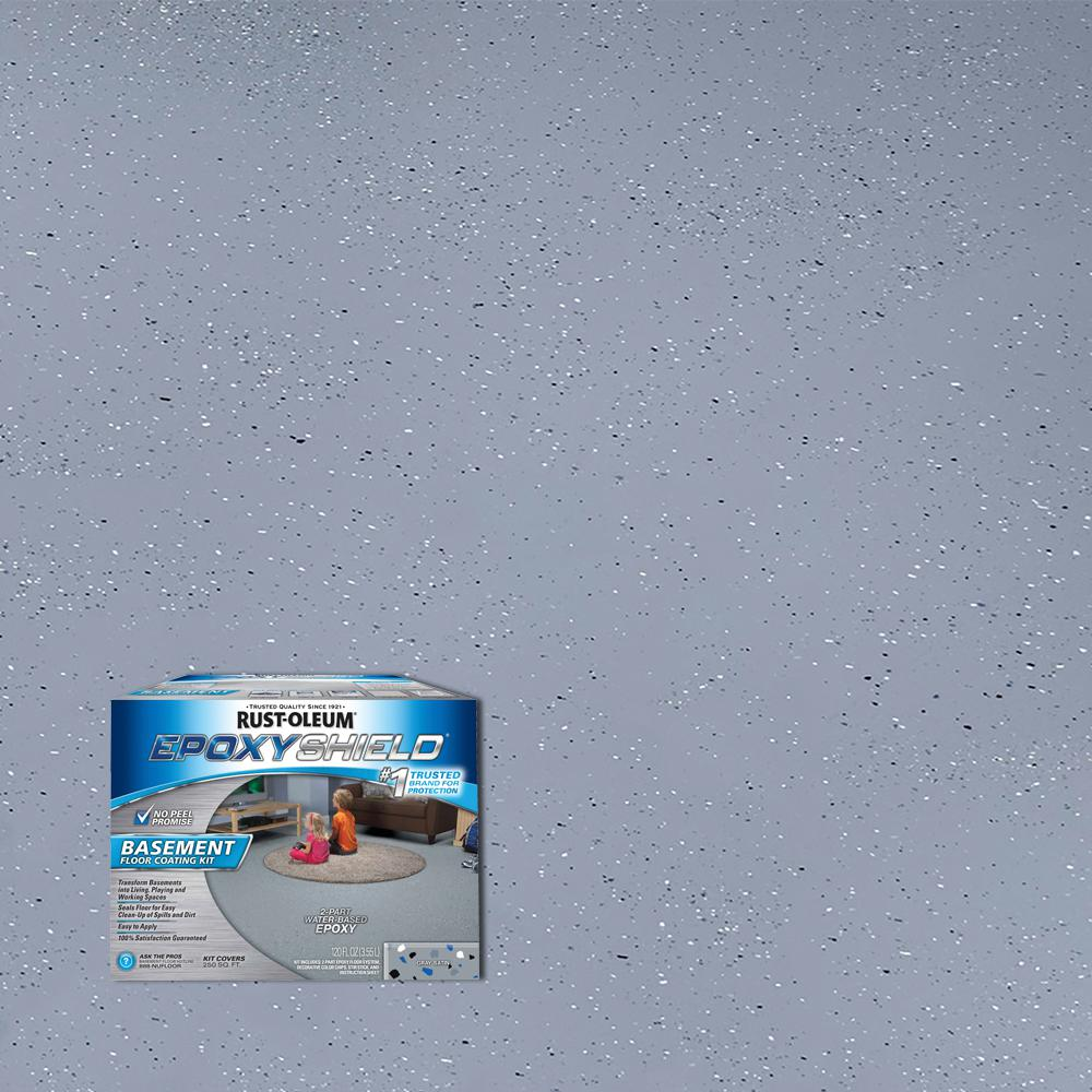Rustoleum Floor Coating Kit 2 Gal Silver Gray Floor Matttroy