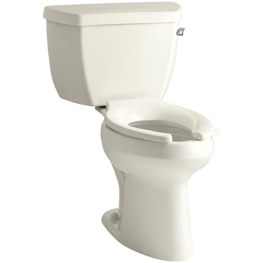 Marvelous Kohler Highline Classic 2 Piece 1 6 Gpf Single Flush Elongated Toilet In Biscuit Seat Not Included Unemploymentrelief Wooden Chair Designs For Living Room Unemploymentrelieforg