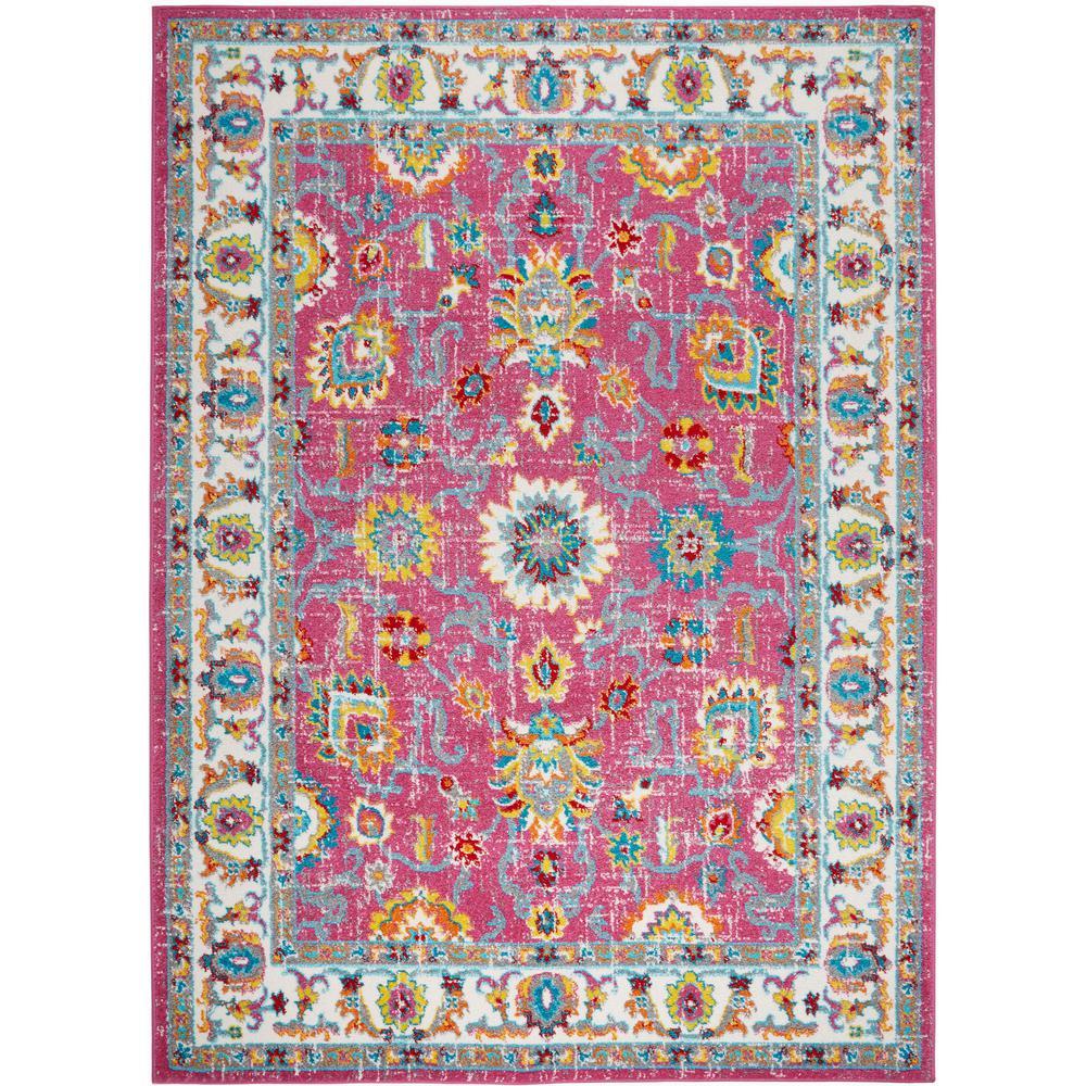 Home Dynamix Splash Pink Ivory 5 Ft X 7 Ft Indoor Area Rug 2 2131