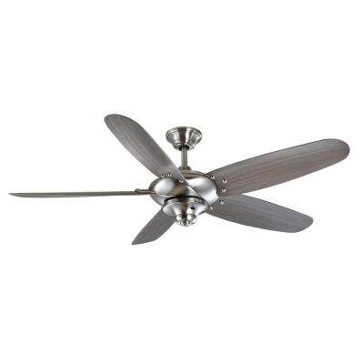 Altura 60 in. Outdoor Brushed Nickel Ceiling Fan with Wall Control