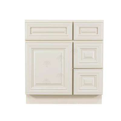 Princeton Assembled 30 in. W x 21 in. D x 33 in. H Bath Vanity Cabinet Only with 2-Doors Off-White