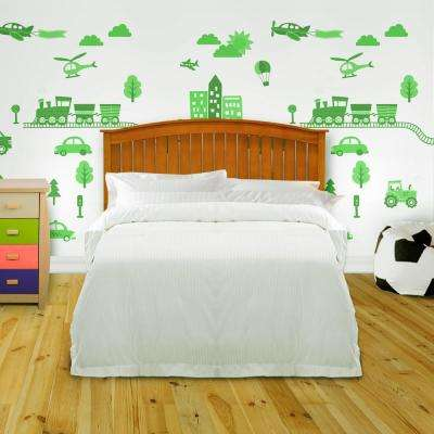 Finley Maple Queen Wooden Headboard Panel with Curved Top Rail Design