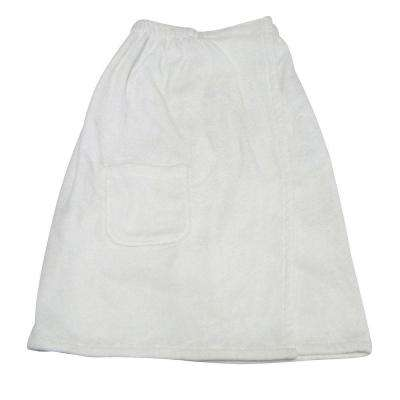 Women's Spa and Bath in White Terry Cloth Towel Wrap