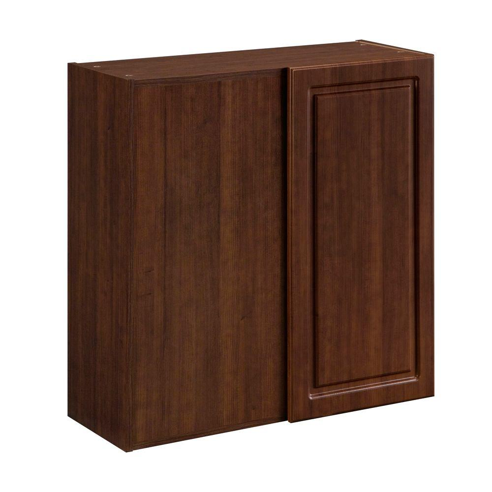 Heartland Cabinetry Heartland Ready to Assemble 30x29.8x12.5 in. Wall Blind Corner Cabinet with 6 in. Filler in Cherry