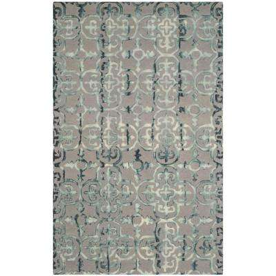 Dip Dye Gray/Charcoal 6 ft. x 9 ft. Area Rug