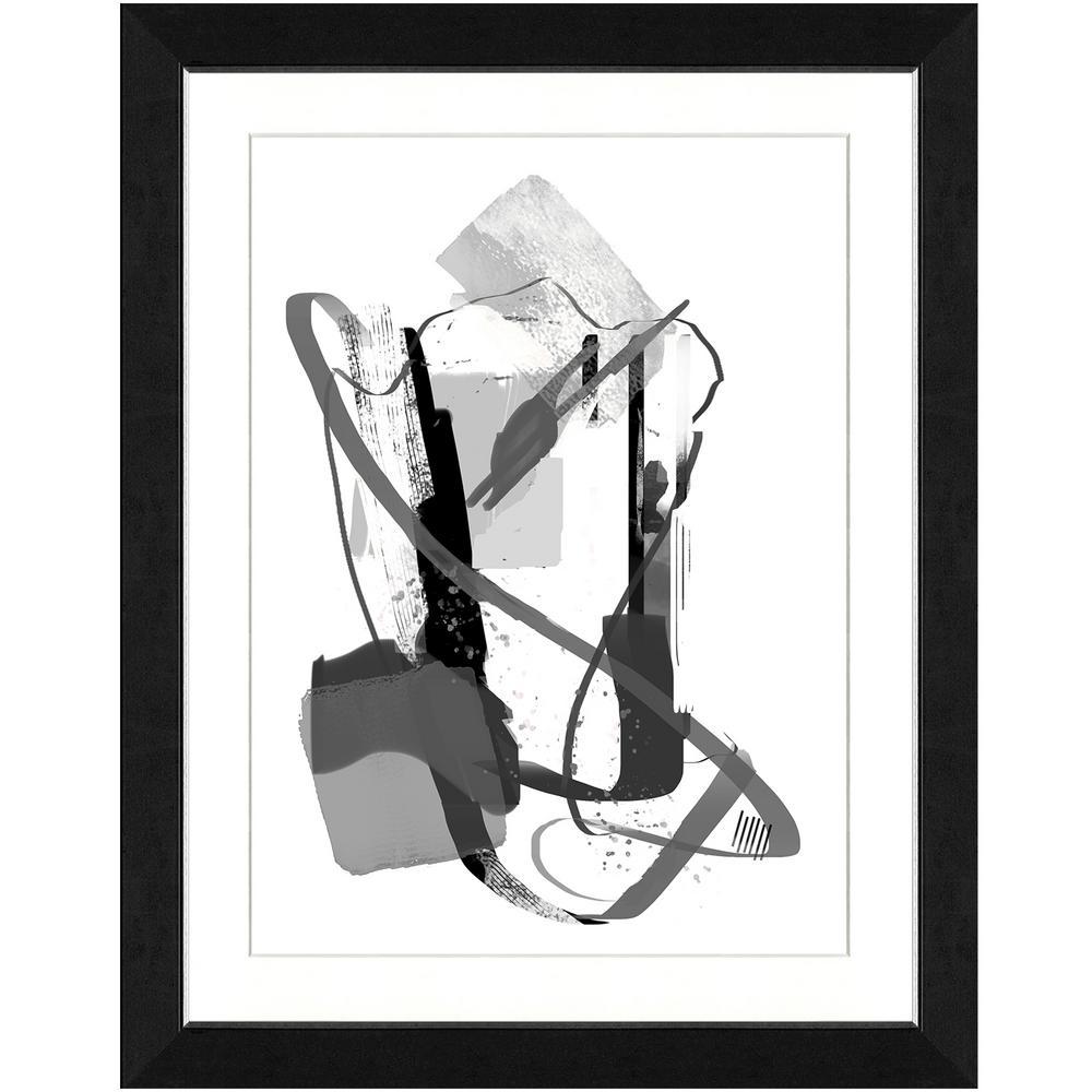 22 in. x 28 in. Calming grays III Framed Archival Paper Wall Art