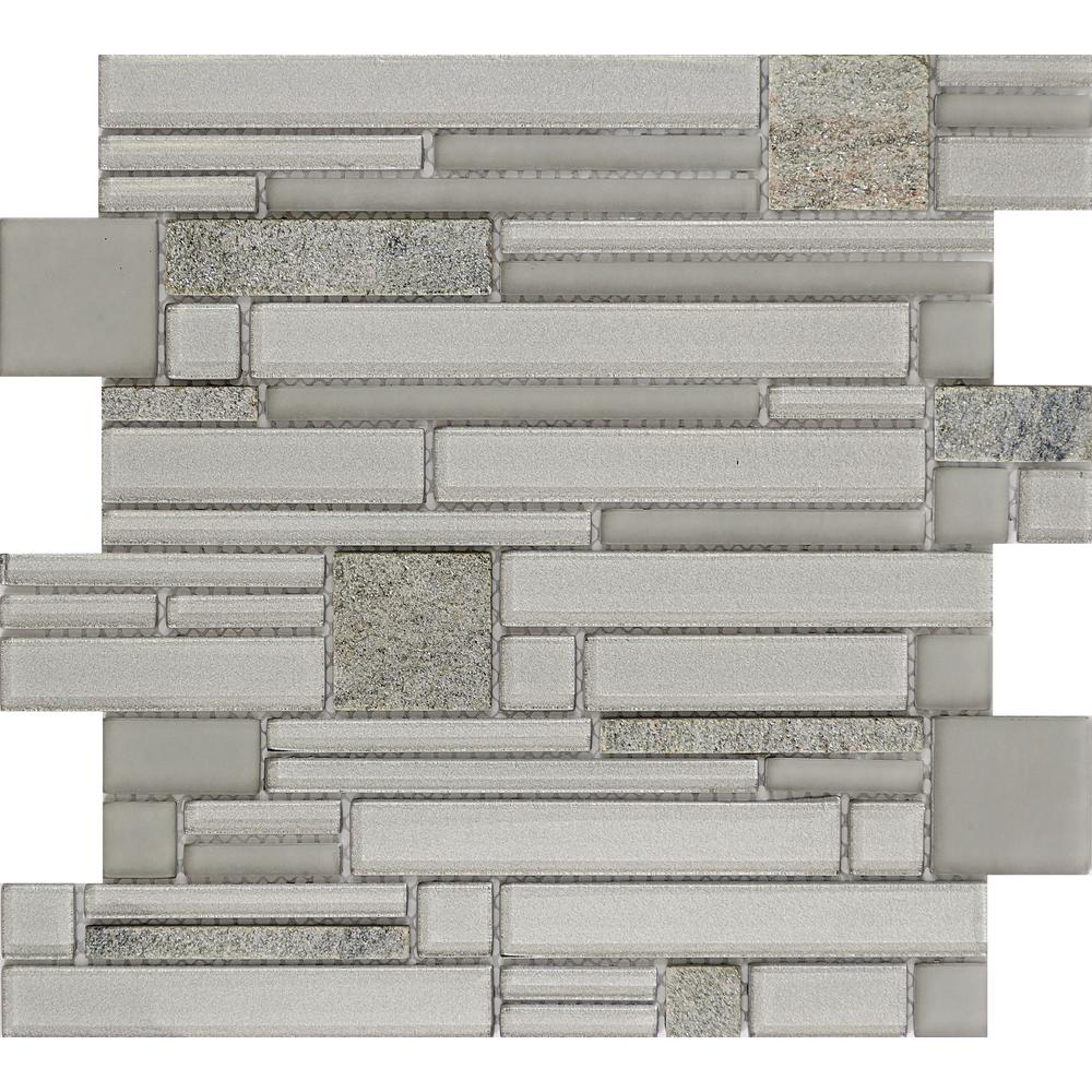 Emser entity spirit glossy in x in x 8mm for Installing glass tile with mesh back