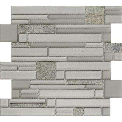 Entity Spirit Glossy 11.81 in. x 11.81 in. x 8mm Glass Mesh-Mounted Mosaic Tile