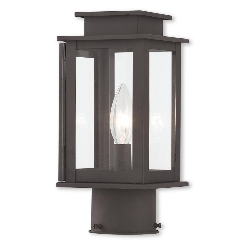 Princeton 1-Light Outdoor Bronze Post Light