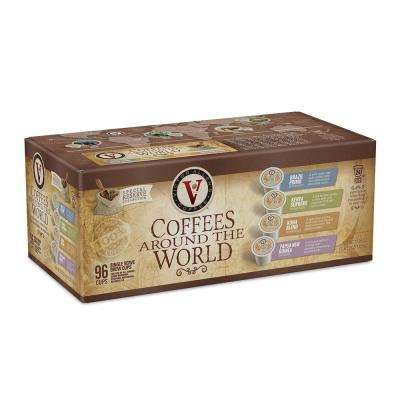 Coffees Around the World Variety Pack Assorted Coffee Single Serve Cups (96-Pack)
