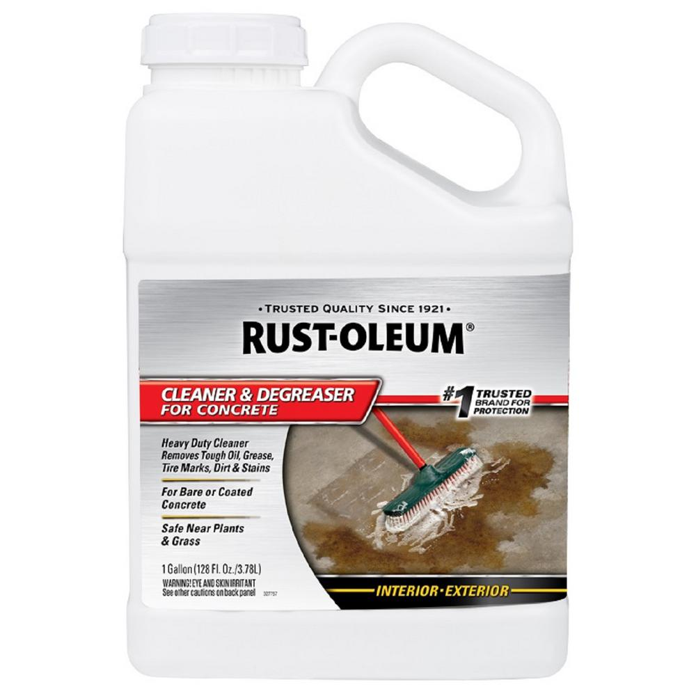 Rust oleum 1 gal cleaner and degreaser 4 pack 301243 for How to degrease concrete floor