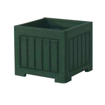Catalina 12 in. x 12 in. Green Recycled Plastic Commercial Grade Planter Box