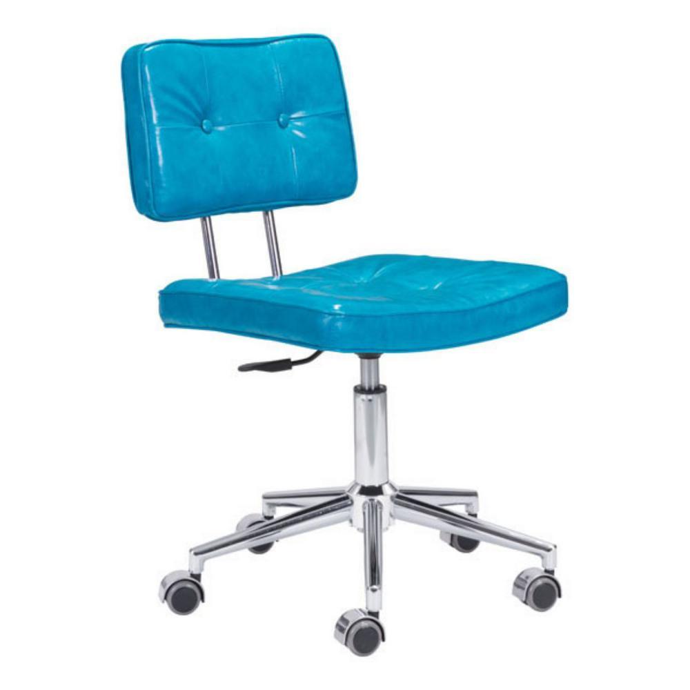 Julia Blue Leatherette Office Chair