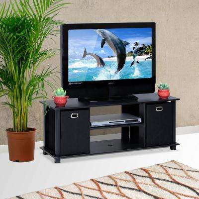Econ Black Entertainment Center with Storage Bins