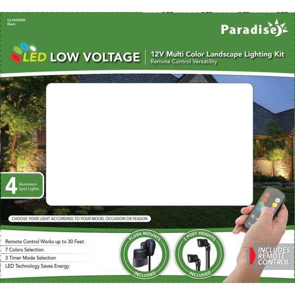 Paradise Landscape Light Led Remote 7 Color With Timer Functions