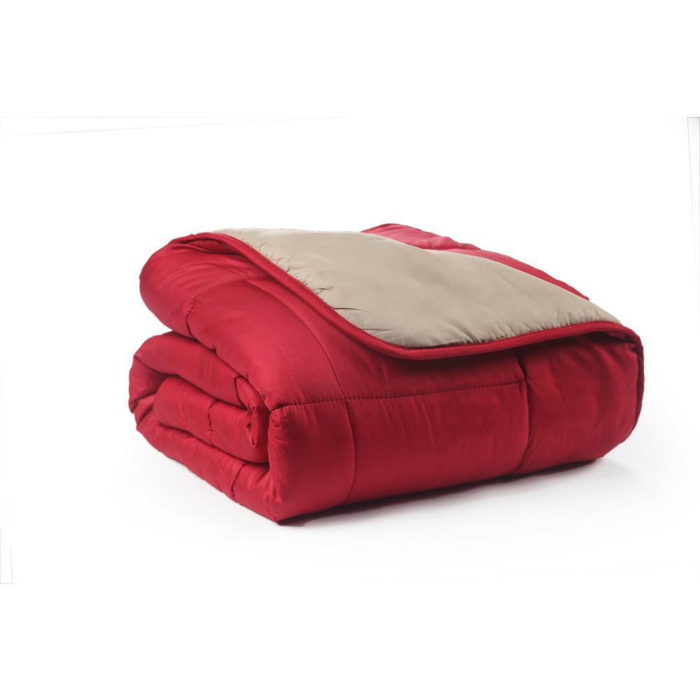 Reversible Cinnamon/Taupe Full/Queen Down Alternative Comforter