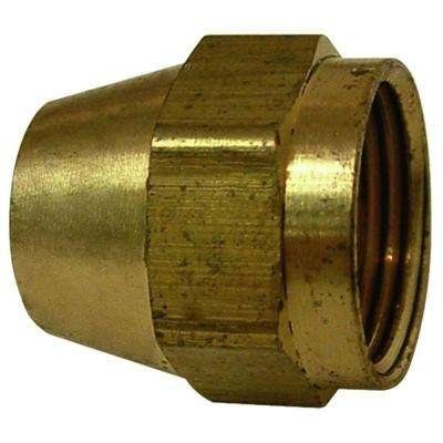 Brass Flare Nut Fine Thread FL 3/8 in.