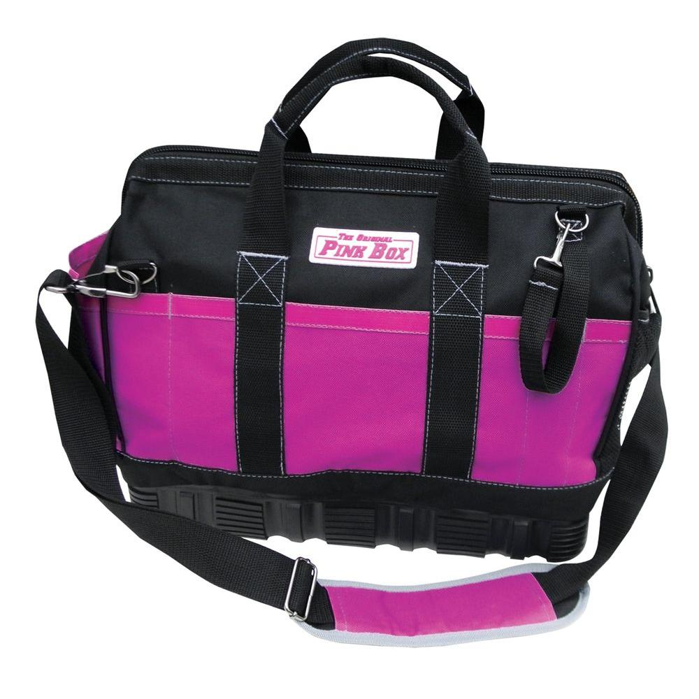 The Original Pink Box 5 in. Tool Bag with Rubber Base in Pink
