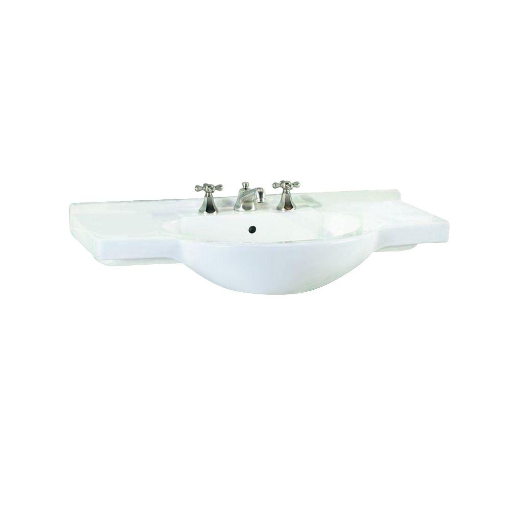 St. Thomas Creations Palermo 5-3/4 in. Pedestal Sink Basin in White
