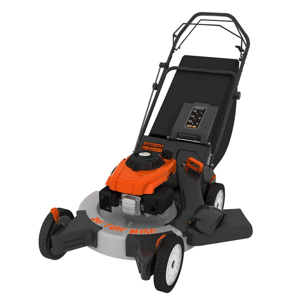 26 in. 208 cc 120V Electric Start Walk Behind Self-Propelled Rear Wheel Mower Variable Speed Drive w/Blade Brake Clutch