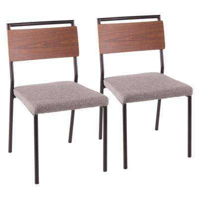 Fiji Black and Grey Dining Chair (Set of 2)