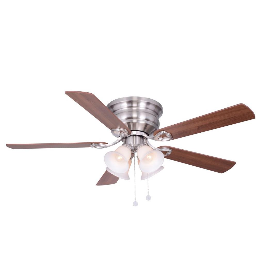 null Clarkston 52 in. Indoor Brushed Nickel Ceiling Fan with Light Kit