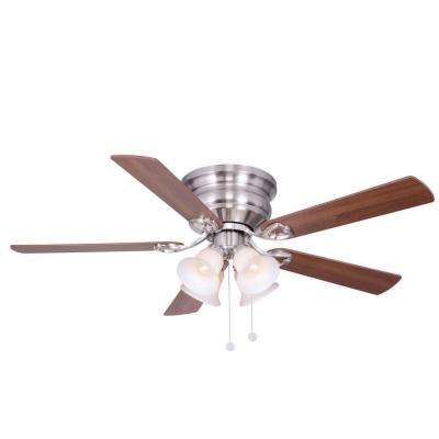 Clarkston 52 in. Indoor Brushed Nickel Ceiling Fan with Light Kit