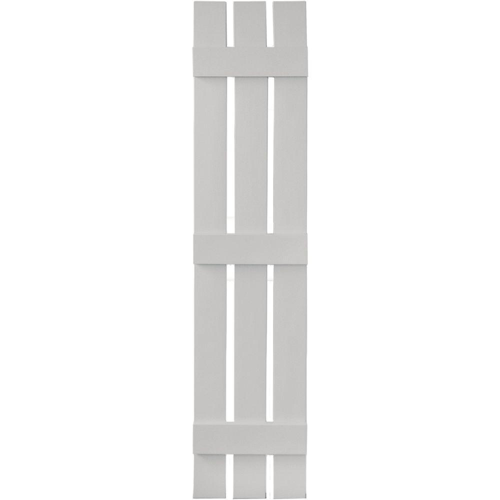 12 in. x 59 in. Board-N-Batten Shutters Pair, 3 Boards Spaced