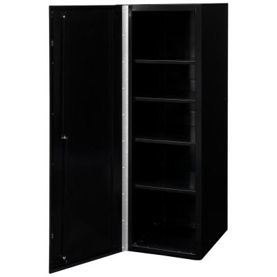 DX 19 in. 4-Shelf Side Locker Tool Chest in Black with Blue Handle