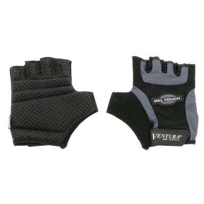 Large Gray Gel Touch Bike Gloves