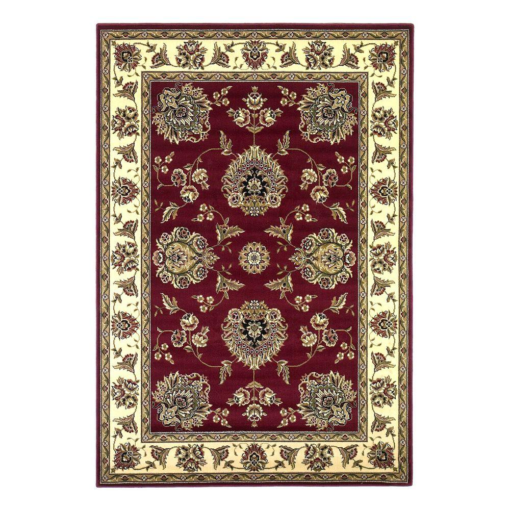 Kas Rugs Classic Mahal Red/Ivory 7 ft. 7 in. x 10 ft. 10 in. Area Rug