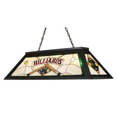 Tiffany Lighting/Billiard/Island 4-Light Tiffany Bronze Ceiling Mount Island Light