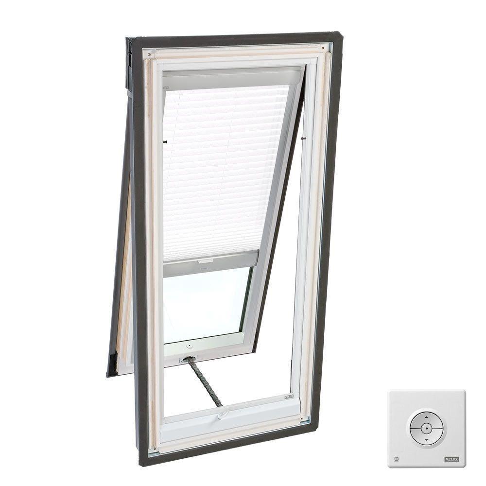 VELUX White Solar Powered Light Filtering Skylight Blind for VS