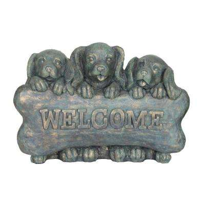 Welcome Puppies Statue