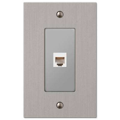 Elan 1 Phone Wall Plate - Brushed Nickel