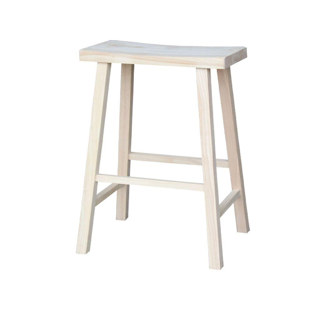 International Concepts 30 in. Unfinished Wood Bar Stool  sc 1 st  The Home Depot : unfinished wooden stools - islam-shia.org