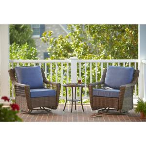 Hampton Bay Spring Haven Brown 3-Piece All-Weather Outdoor Patio Chat Set with... by Hampton Bay