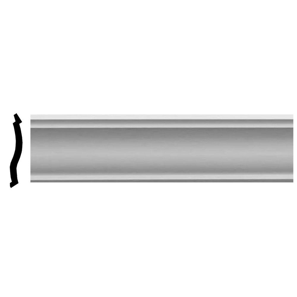 Ekena Millwork 5-3/8 in. x 2-1/8 in. x 94-1/2 in. Foster Smooth Crown Moulding