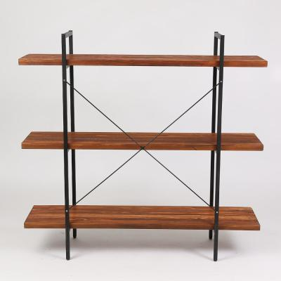 48 in. Natural Etagere Bookcase