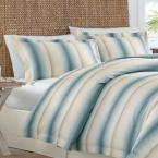 Tommy Bahama La Prisma 3-Piece Stripe Blue Full/Queen Duvet Cover Set