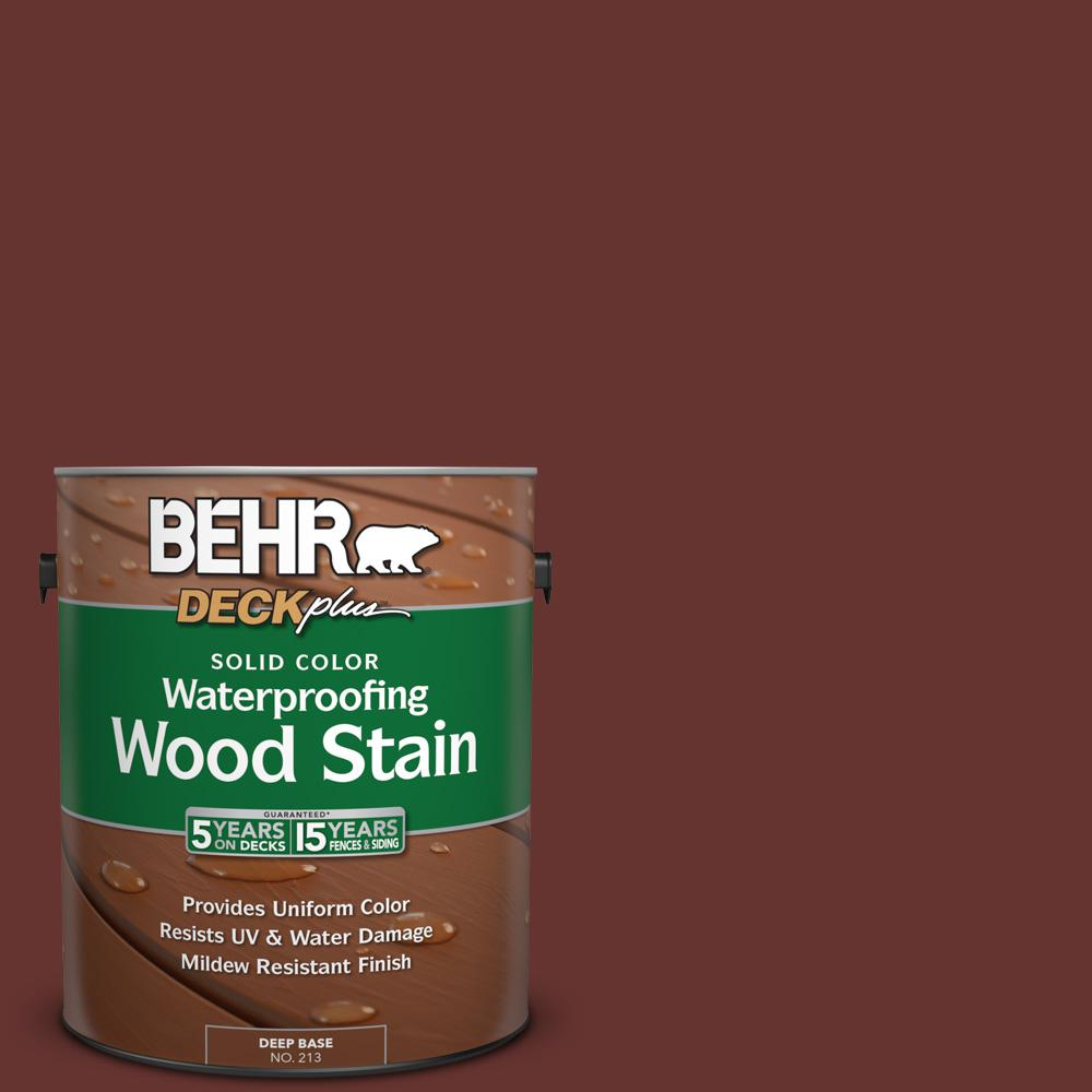 1 gal. #PPU2-1 Chipotle Paste Solid Color Waterproofing Wood Stain