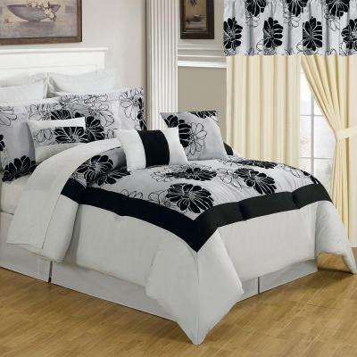 Madison White 25-Piece King Comforter Set