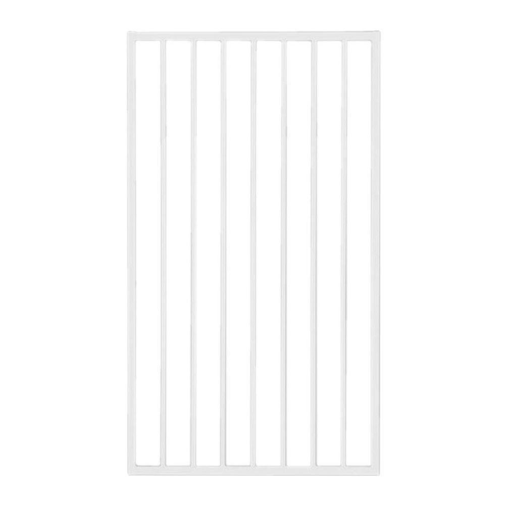 US Door & Fence Pro Series 3 ft. x 5 ft. White Steel Fence Gate ...