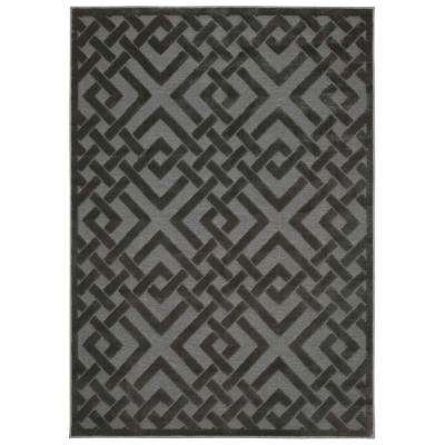Ultima Silver/Grey 3 ft. 6 in. x 5 ft. 6 in. Area Rug